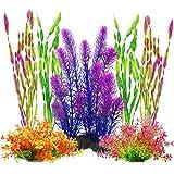 MyLifeUNIT Artificial Aquariums Plants Plastic Fish Tank Plants for Aquarium Decorations, Pack of 7