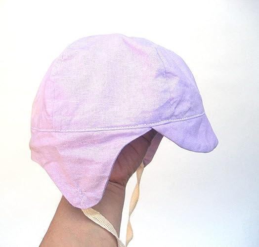 db2098d3801900 Amazon.com: Unisex baby bomber hat, lilac calico newsboy cap baby boy cap:  Handmade