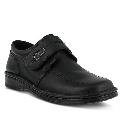 Men's Spring Step Men Levi Men's Slip-On Shoe  Color Black  Men's Leather Slip-On Loafer