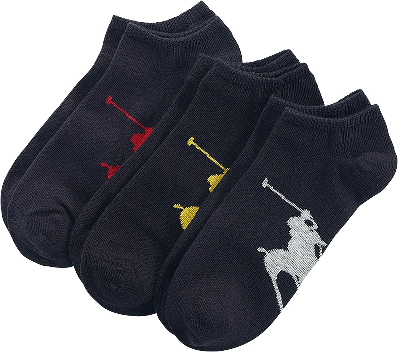 Size 6-12 Polo Ralph Lauren Mens NO Show Socks
