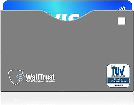 RFID Schutzhülle NFC Soft Transp EC Kartenhülle Kreditkarten Ausweis TÜV Geprüft