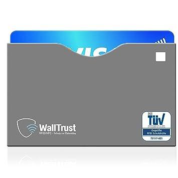 WallTrust® protectoras de RFID NFC | Protección * Aprobado TÜV Alemán * | 10 Fundas para Tarjeta de Crédito Débito Identificación | apertura superior