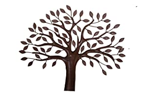 Malhar Handicraft Minimalist Metal Elm Tree Luxurious Wall Decor for Modern Home Decoration, Kitchen, Living Room, Drawing Room, 44 X 36 Inches