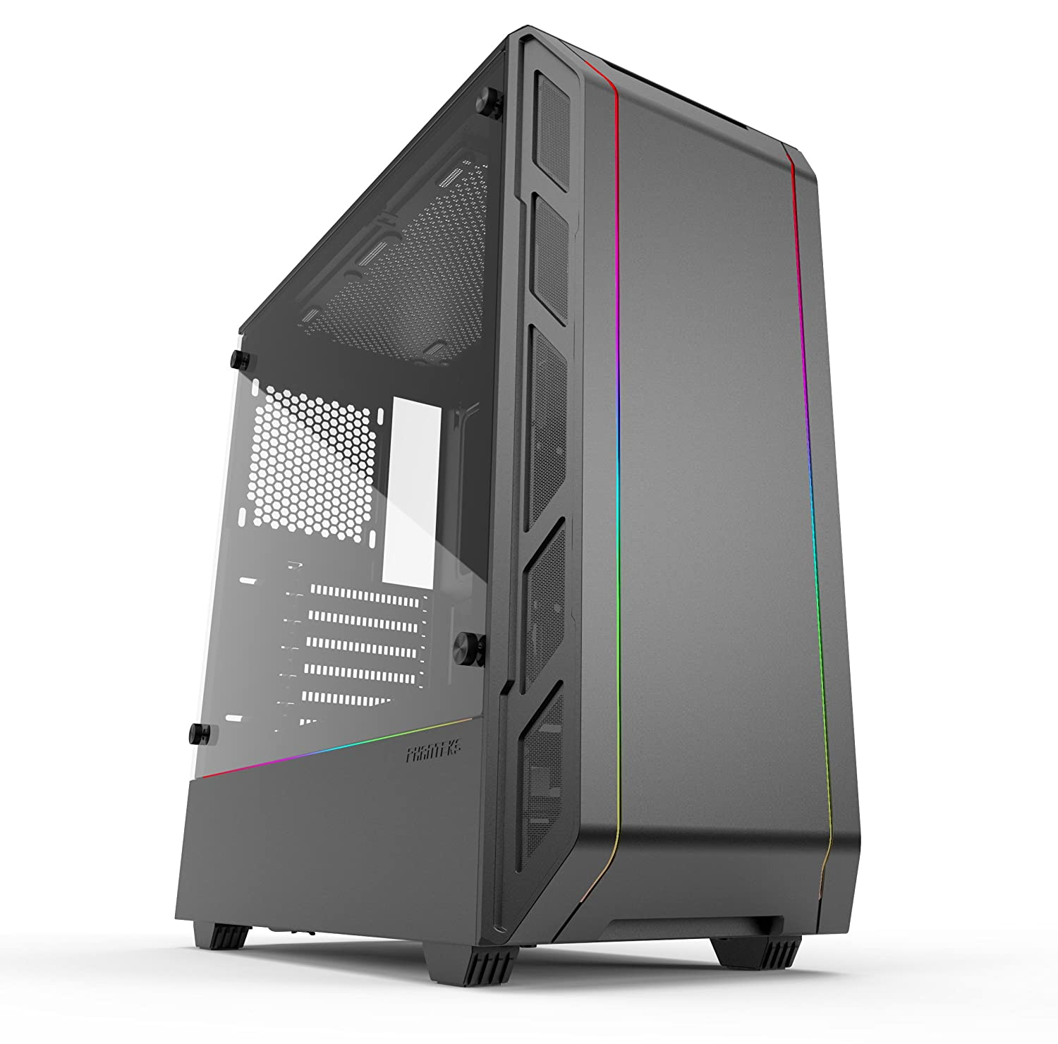 Phanteks Ph Ec350 Ptg Dbk Eclipse P350 X Compact Eatx Mid Tower Tempered Glass Digital Rgb Black Cases by Phanteks