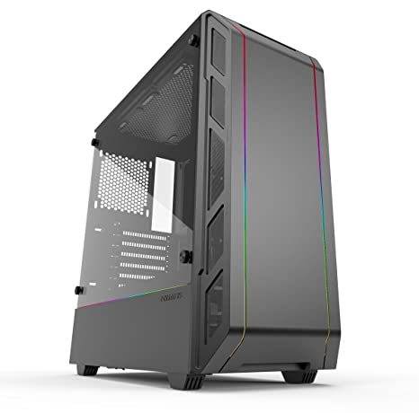 Phanteks Eclipse P350X (PH-EC350PTG_DBK) Compact EATX Mid-Tower Case,  Tempered Glass, Digital RGB, Black