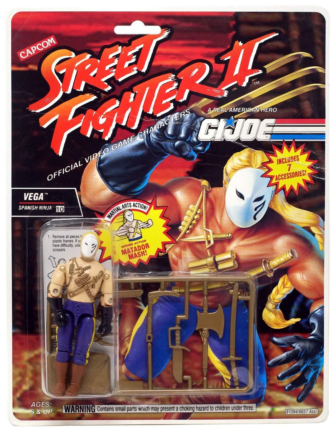GI Joe Street Fighter II Vega Spanish Ninja 3 3/4