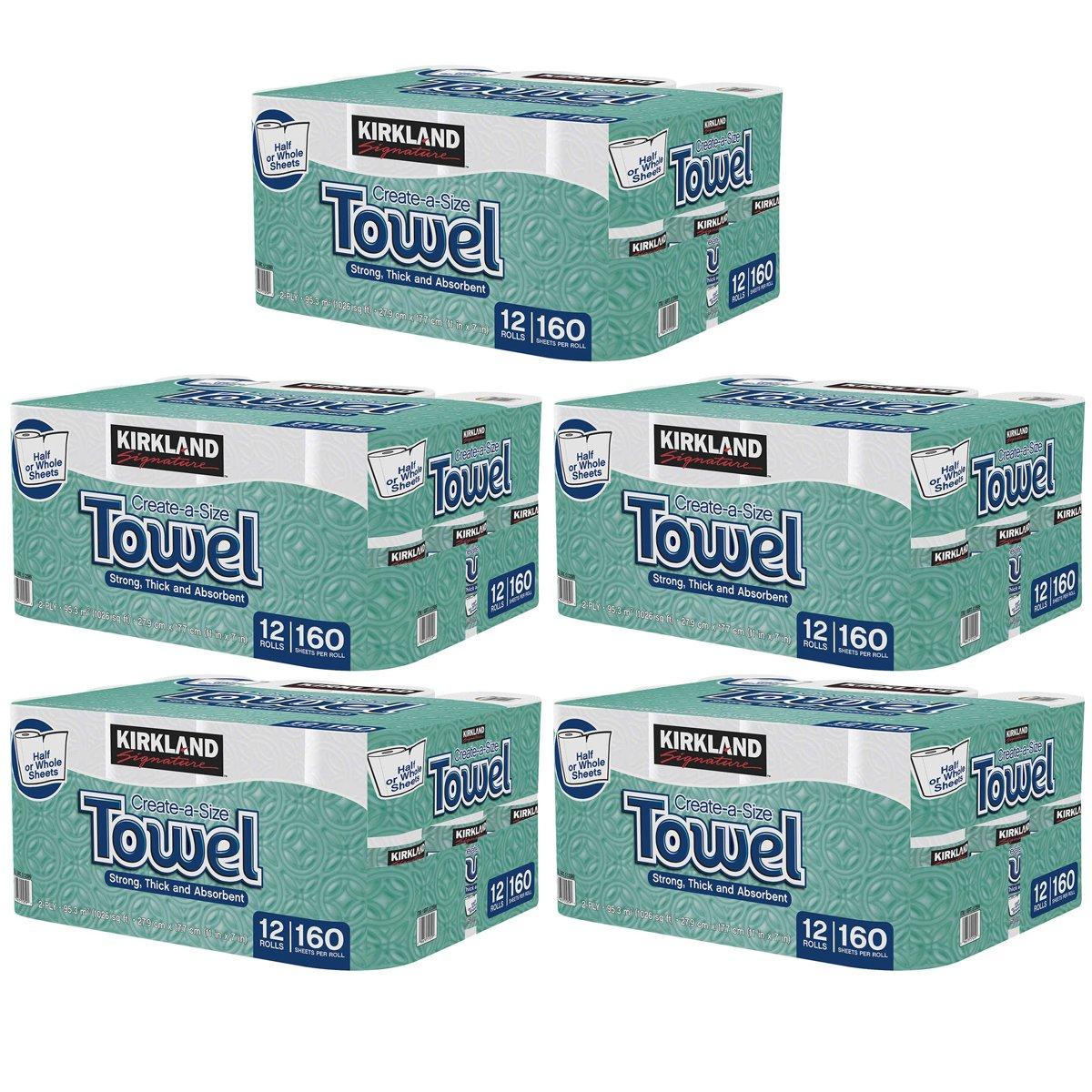 Kirkland Signature Premium Big Roll Paper Towels 60-Roll, 160 Sheets Per Roll