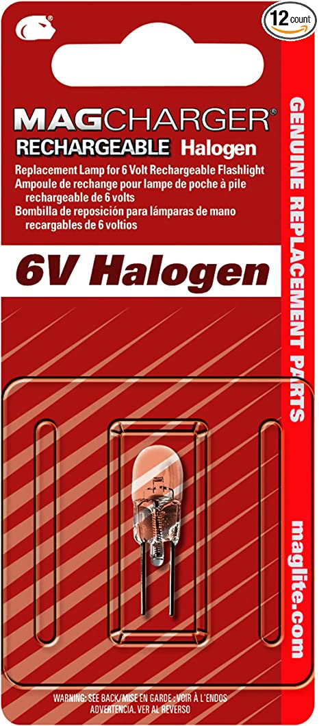 Lot of 6 Maglite LR00001 6V Halogen Bulbs for Magcharger Rechargeable Flashlight