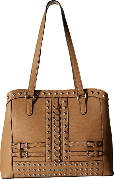 b452392c6c4 Amazon.com: LOVE Moschino Women's Shoulder Bag with Belt Studs Camel One  Size: Shoes