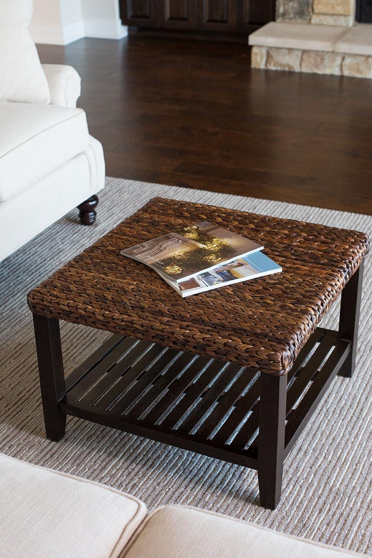 Amazon BirdRock Home Woven Seagrass Coffee Table