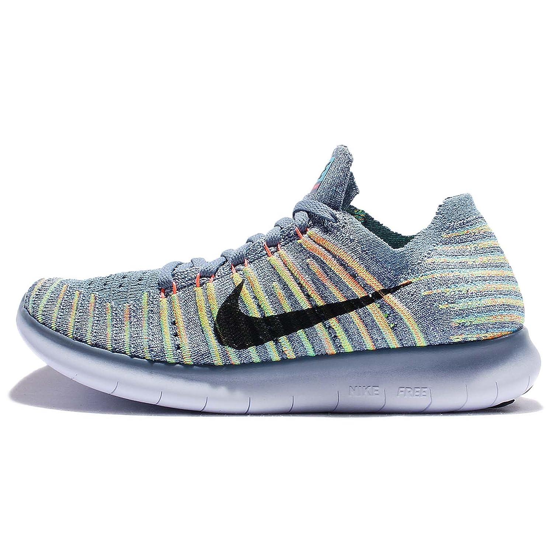 NIKE Women's Free RN Flyknit 2017 Running Shoe B01NB11HV3 8.5 B(M) US|Ocean Fog/Bright Mango/Polarized Blue/Black