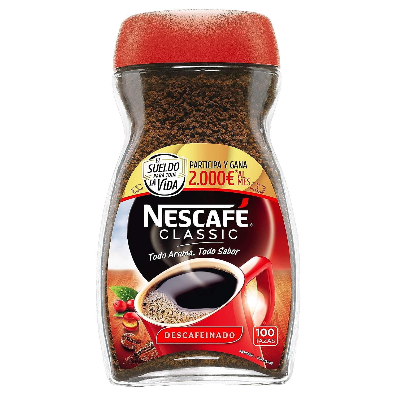 NESCAFÉ Café Classic Café Soluble Descafeinado| Bote de cristal | Paquete de 200g de café: Amazon.es: Amazon Pantry