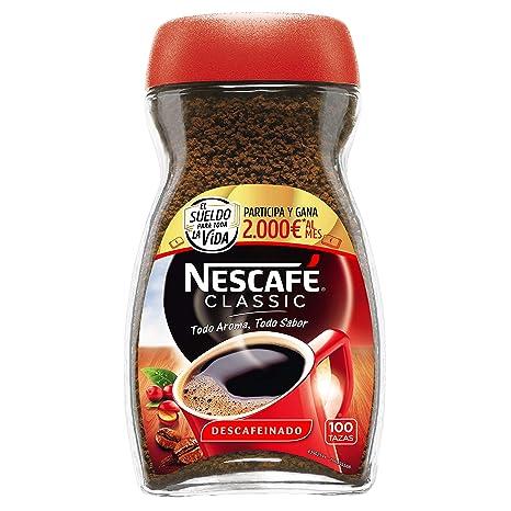 NESCAFÉ Café Classic Café Soluble Descafeinado| Bote de cristal | Paquete de 200g de café