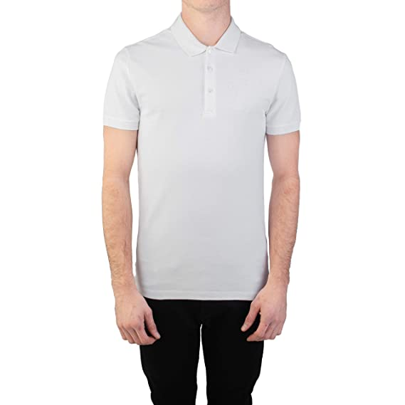 404db843 Image Unavailable. Image not available for. Colour: Versace Collection  Men's Cotton Pique Embroidered Medusa Polo Shirt White