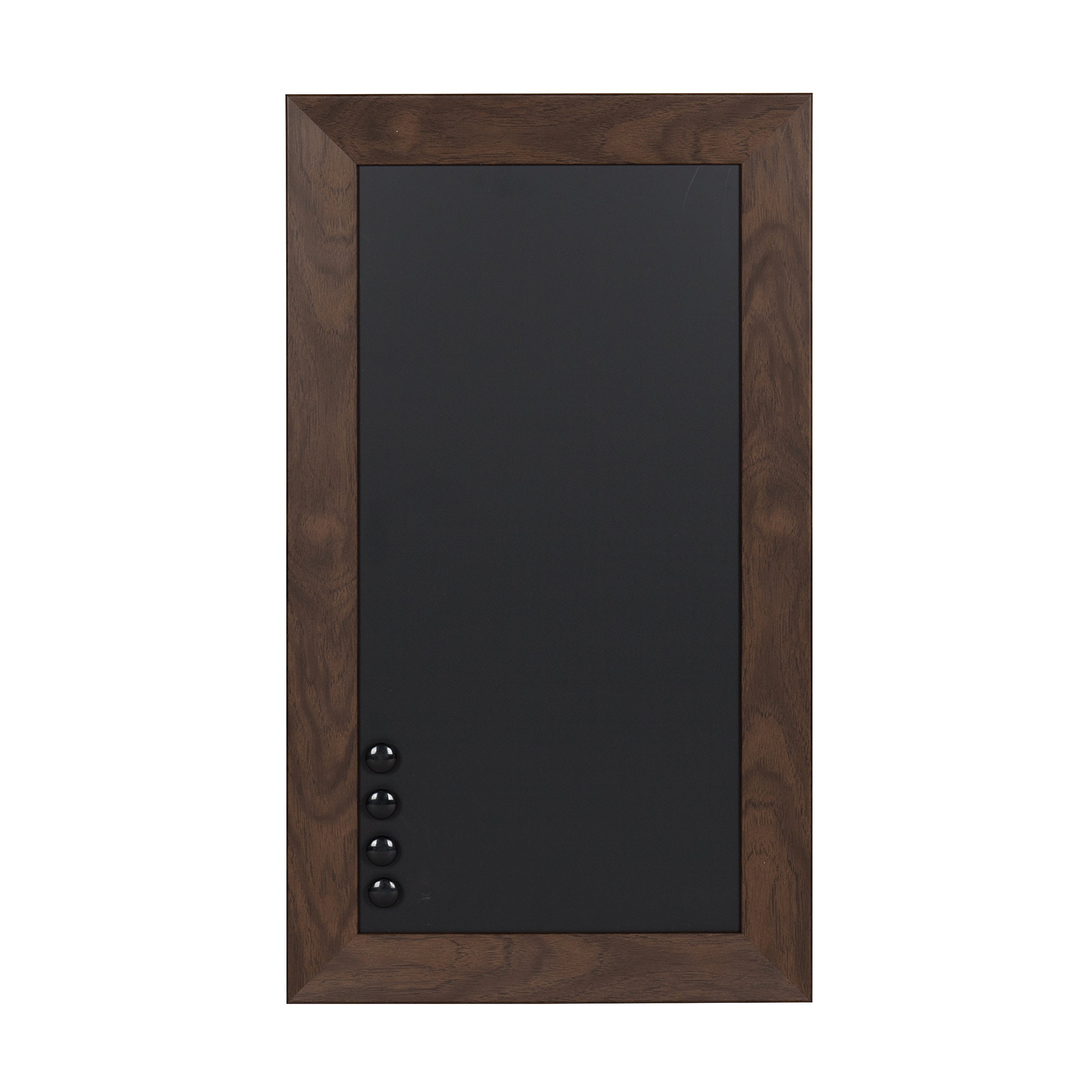DesignOvation Beatrice Framed Magnetic Chalkboard, 13x23, Walnut Brown by DesignOvation