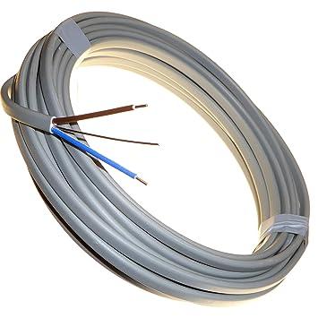 /Rouleau complet et longueurs personnalis/ées disponibles C/âble /électrique plat gris Twin and Earth 6242Y