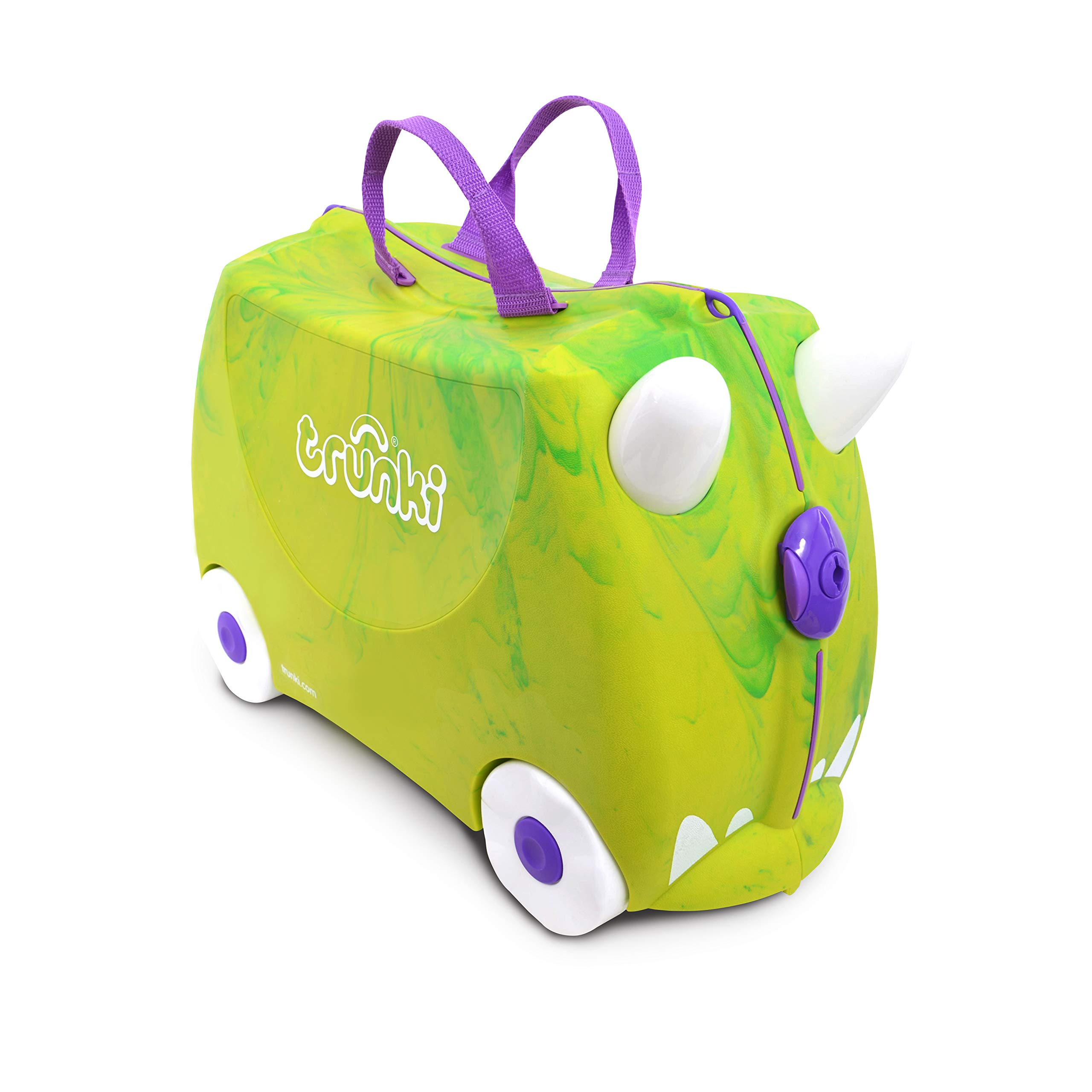 Trunki Original Kids Ride-On Suitcase and Carry-On Luggage - Trunkisauras Rex (Green) by Trunki (Image #2)