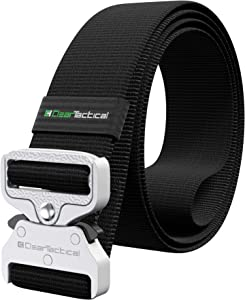 "Clear Tactical Belt | Heavy-Duty Gun Belt, Metal Buckle Rated at 650+ lbs, 1.5"" Wide with Quick-Release Hardware, Perfect for The Range, Police, Military, or Outdoor Adventures."