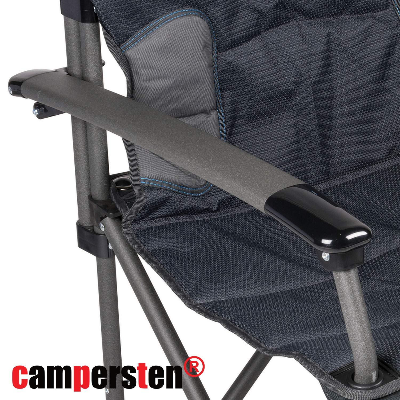 schnell und sicher Handelskontor XXL – Silla de camping   extra fuerte resistencia   180 Kg   Luxus comodidad plegable