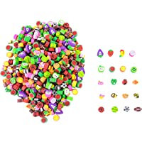 500 Miniature Novelty Erasers for Kids - Colorful Fruit and Adorable Animal Designs - High-Quality Materials Won't Smudge or Tear Paper - Great for Homework Rewards, Party Favors, and Art Supplies