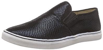 Shoes C072C-22D P1735A PU, Damen Slipper, Schwarz (Black 21), 37 EU Buffalo