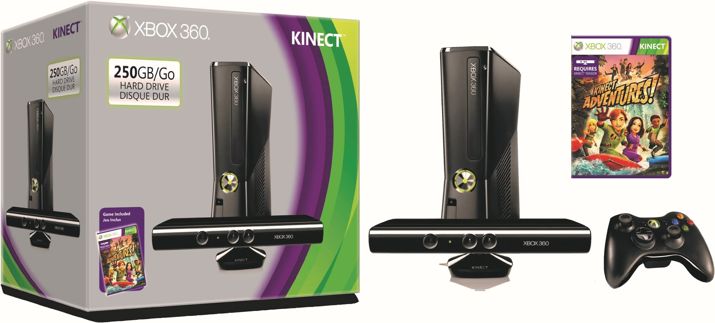 e58fef448e2b Amazon.com  Microsoft Xbox 360 S 250GB System Kinect Bundle  Video Games