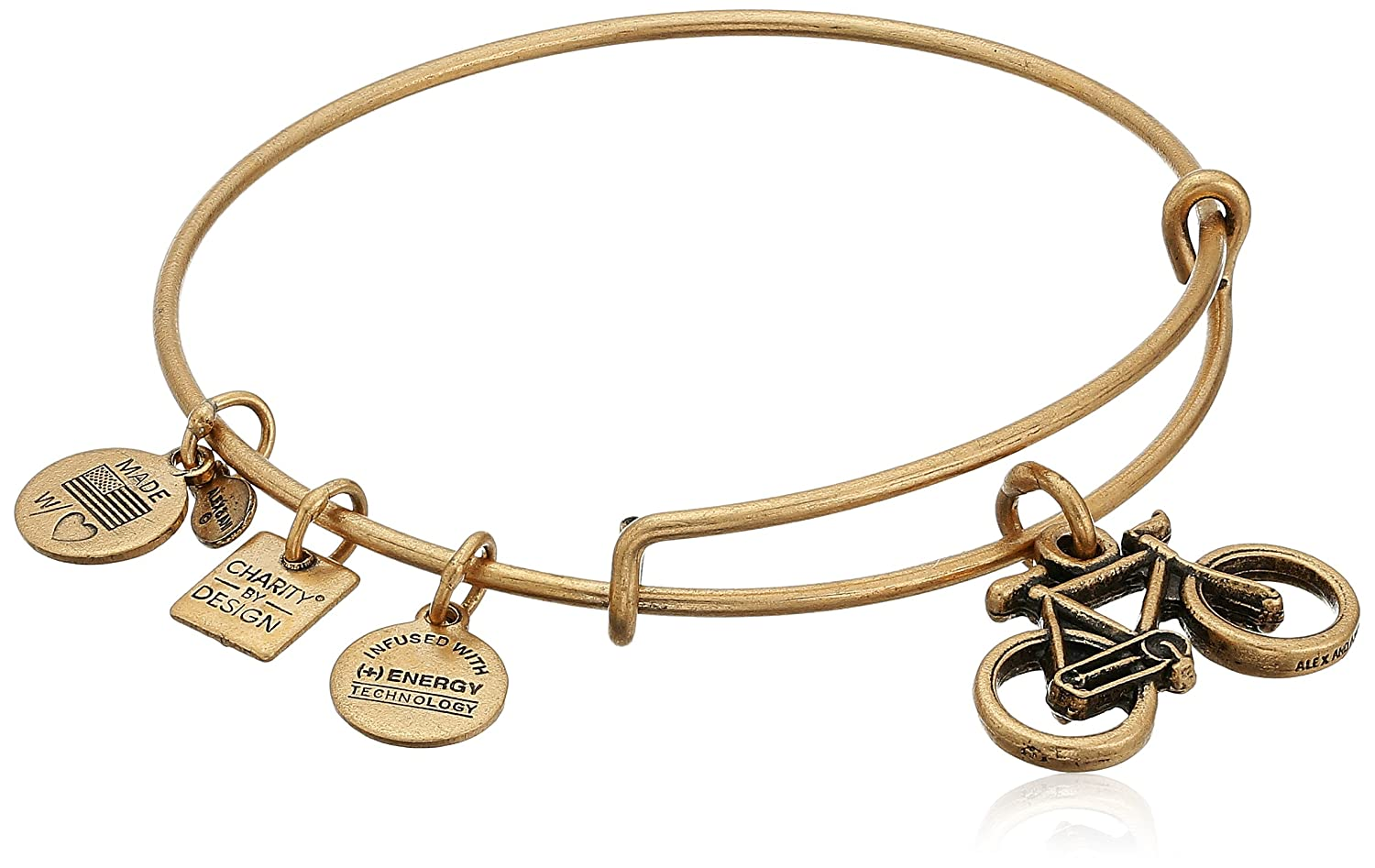 Amazon.com: Alex and Ani Charity By Design Bike Rafaelian Gold ...