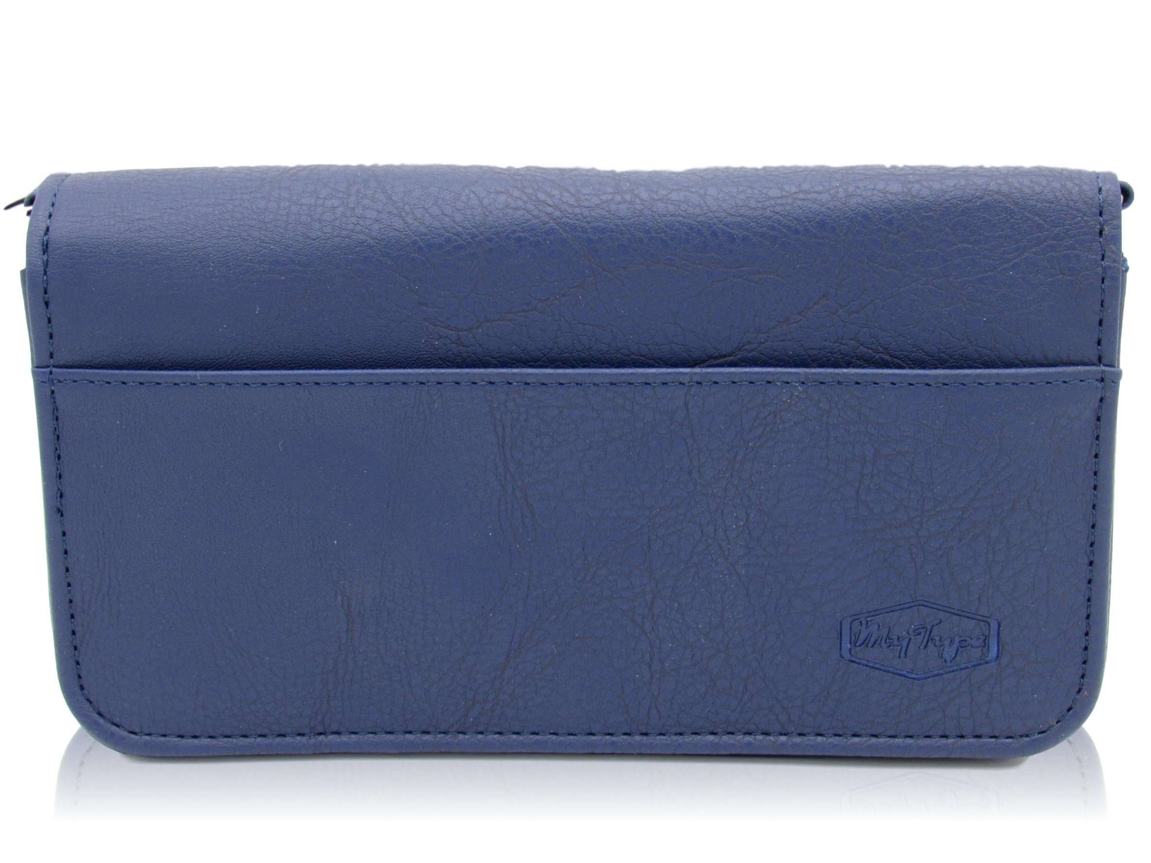 MyType Diabetic Glucose Monitoring Supply Purse or Clutch - Stores all your Diabetes Supplies (Blue)