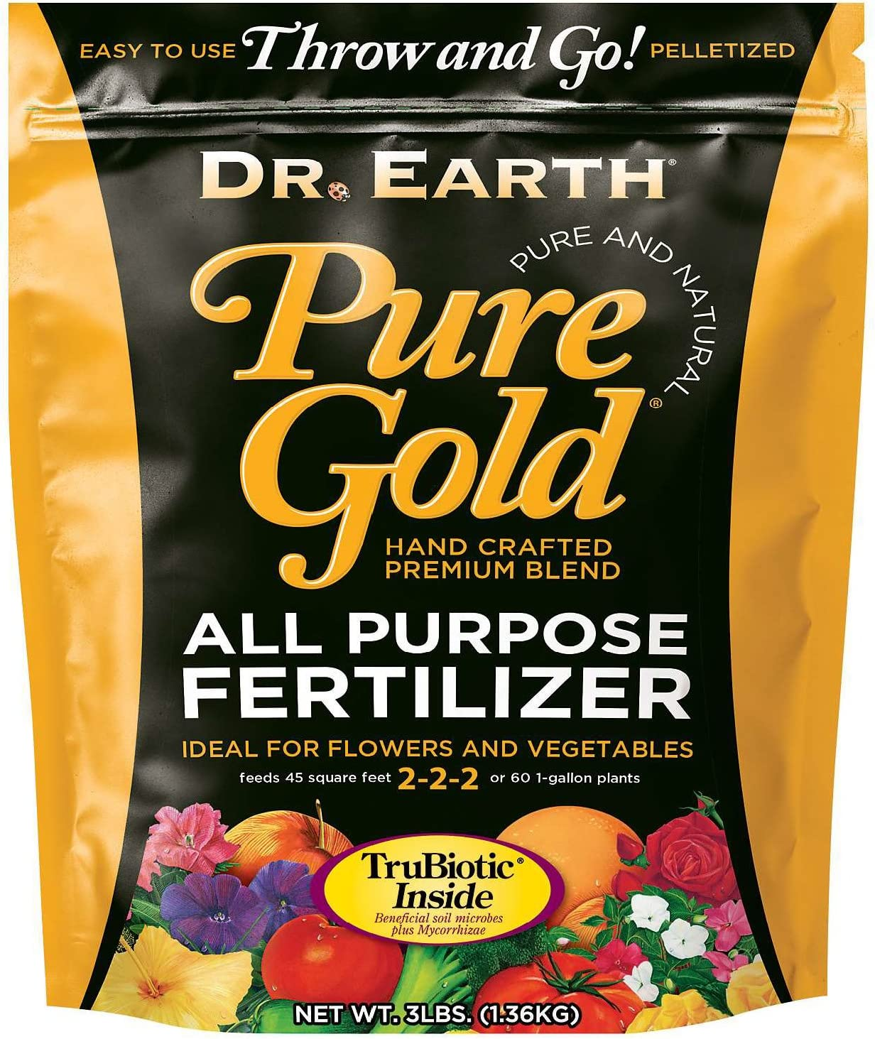 Dr. Earth Pure Gold All Purpose Fertilizer 3 lb
