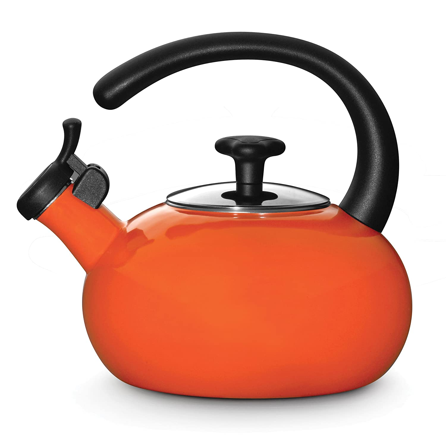 amazoncom rachael ray teakettles quart whistling orange  - amazoncom rachael ray teakettles quart whistling orange tea kettlekitchen  dining