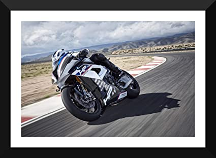 Tallenge Bmw Hp4 Race 2019 Superbike Small Poster Paper Framed