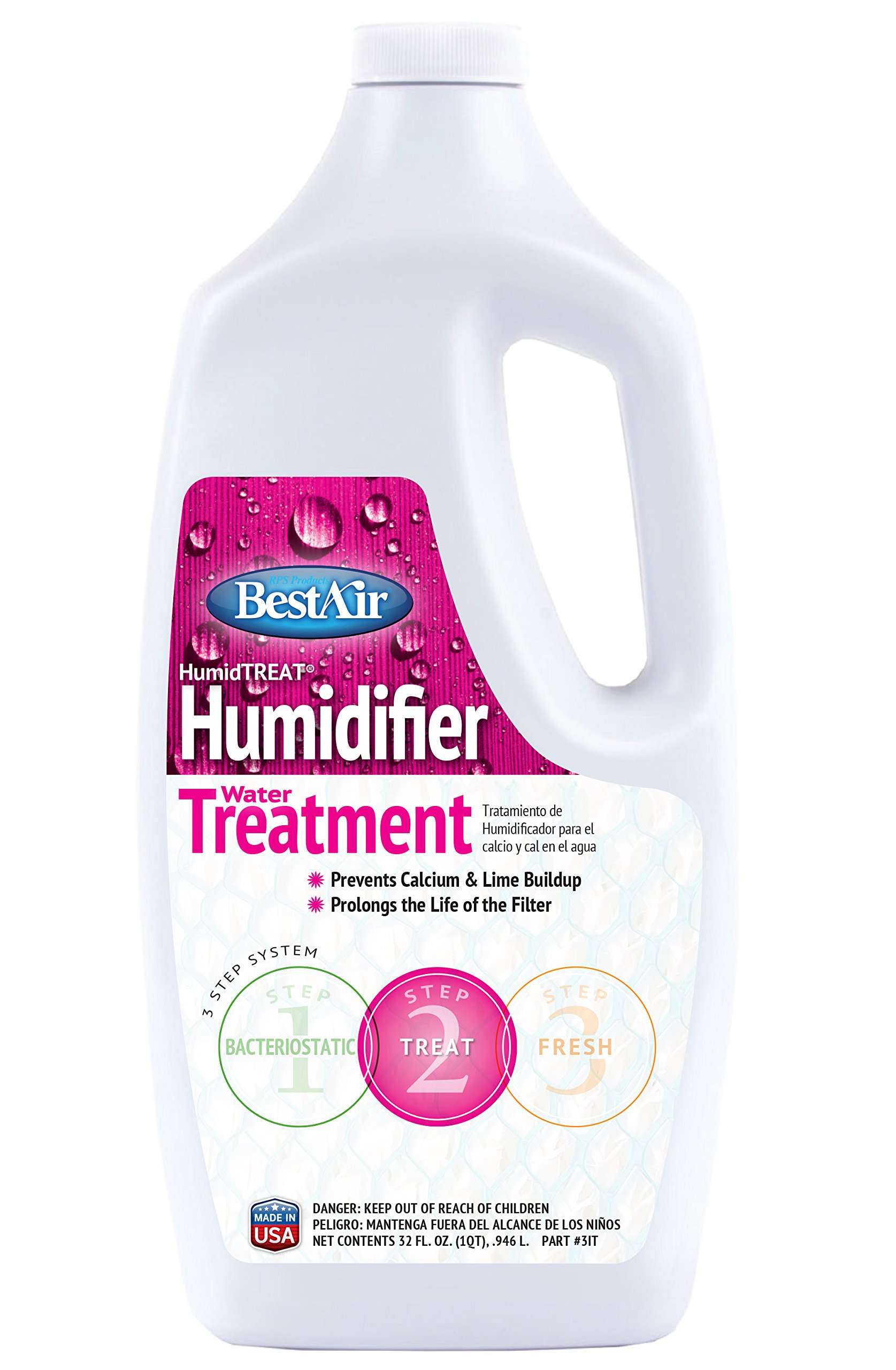 BestAir 1T, Humiditreat Extra Strength Humidifier Water Treatment, 32 oz