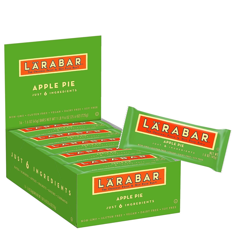 LÄRABAR Fruit & Nut Food Bar, Apple Pie, 1.6-Ounce Bars (Pack of 16)
