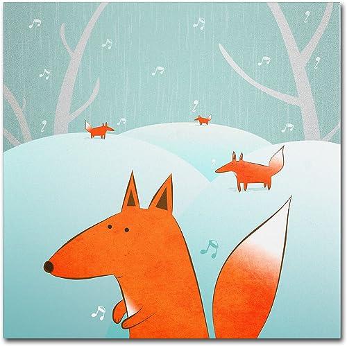"""Winter Foxes"" Artwork"