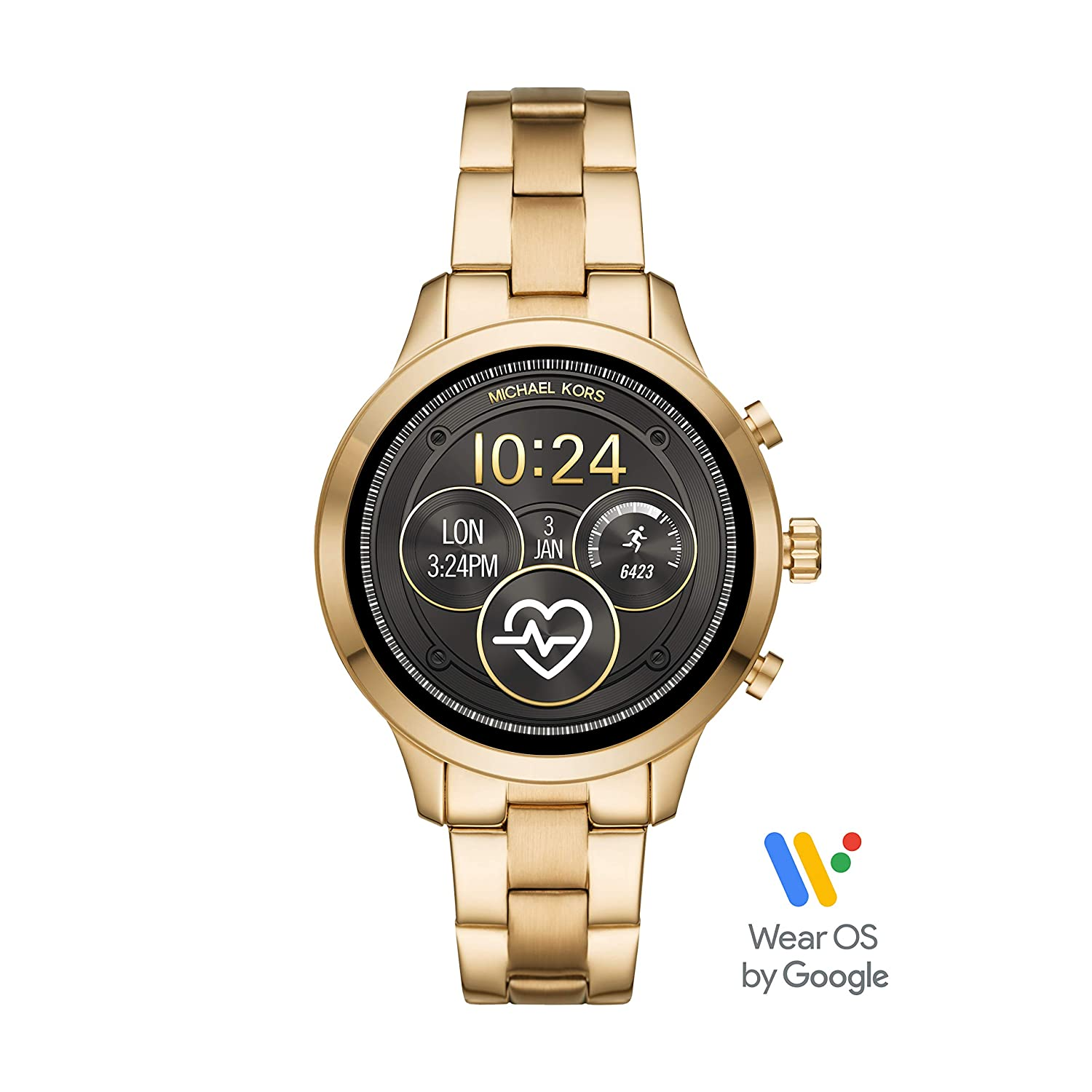 Michael Kors Access Runway Smartwatch Powered with Wear OS by Google with Heart Rate, GPS, NFC, and Smartphone Notifications