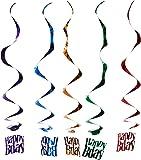 Happy Birthday Whirls   (5/Pkg)