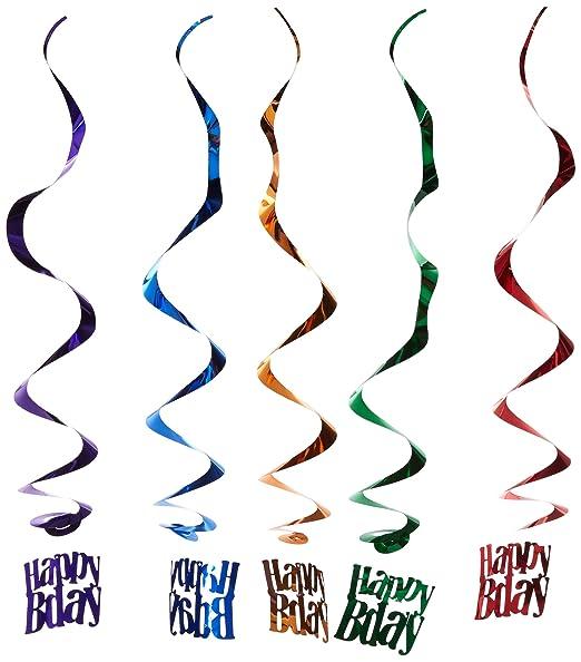 Feliz cumpleaños blanco y azul (5/PKG): Amazon.es: Hogar