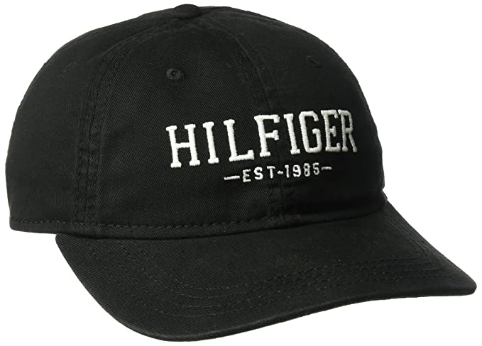 f1b6e0e8 Tommy Hilfiger Men's Bucky Baseball Dad Cap, Black, One Size at Amazon  Men's Clothing store: