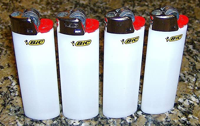 Lot de 4 encendedores Bic color blanco Classic tamaño completo, Nuevo: Amazon.es: Iluminación