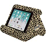 Flippy Multi-Angle Soft Pillow Lap Stand for iPads, Tablets, eReaders, Smartphones, Books, Magazines (Def Leopard)