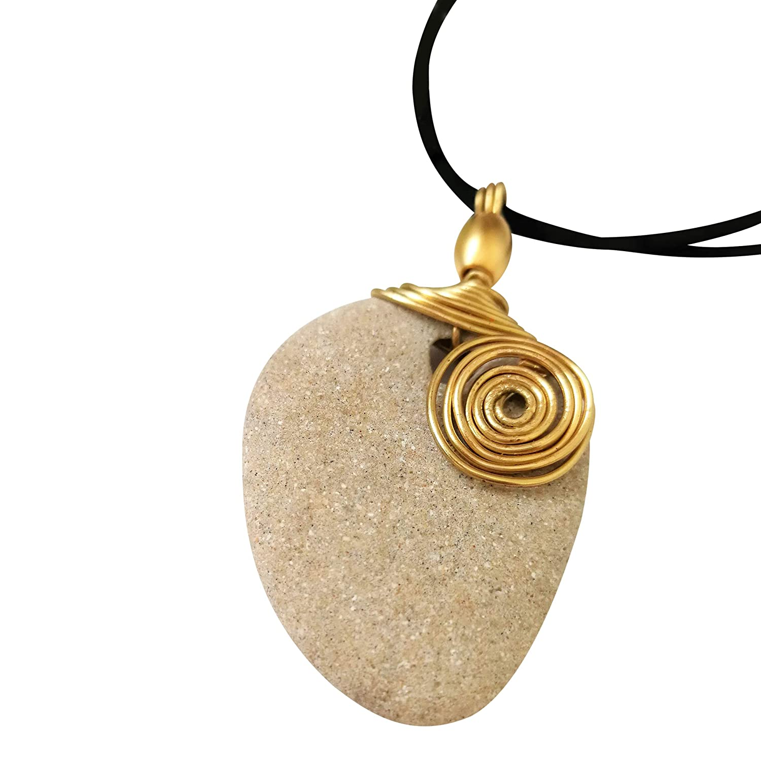 Amazon Com Hag Stone Cameo Necklace Long Natural Protection Wish Pendant With Golden Wire Design Handmade Commonly, they are found in northern germany at the coasts of the north and baltic seas. hag stone cameo necklace long natural protection wish pendant with golden wire design