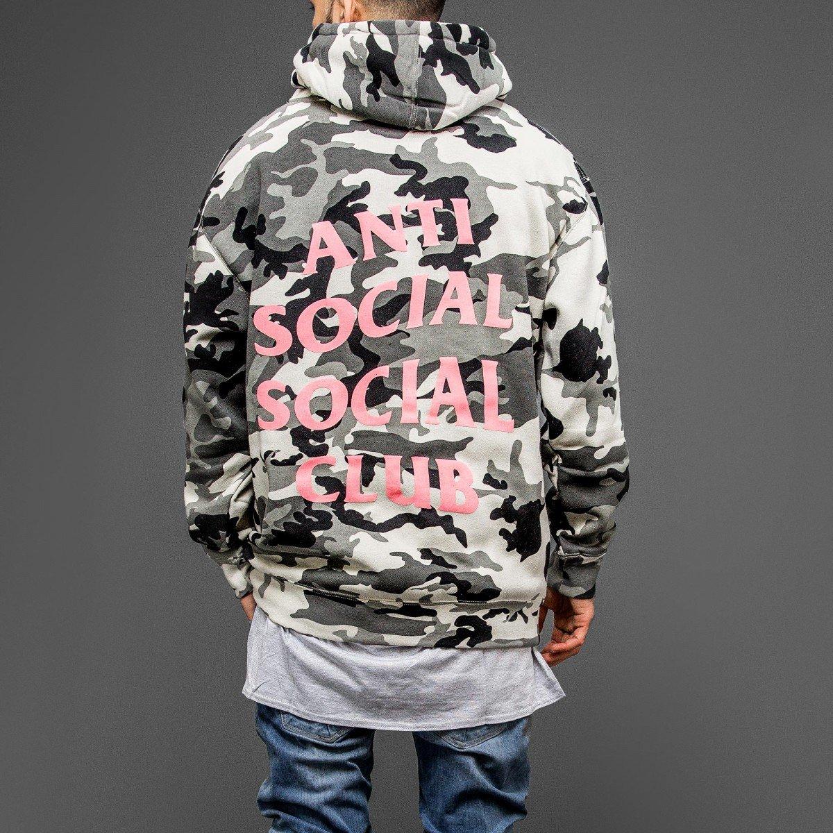 a23be117cab0 Kardiance Snow Camo Anti Social Social Club ASSC Hoodie Hoody   Amazon.co.uk  Clothing