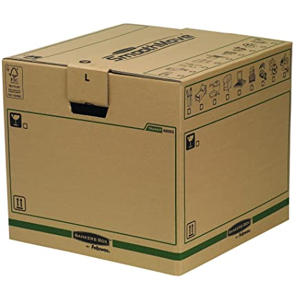 Bankers Box 6205601 - Caja de transporte y mudanza, paquete de 5