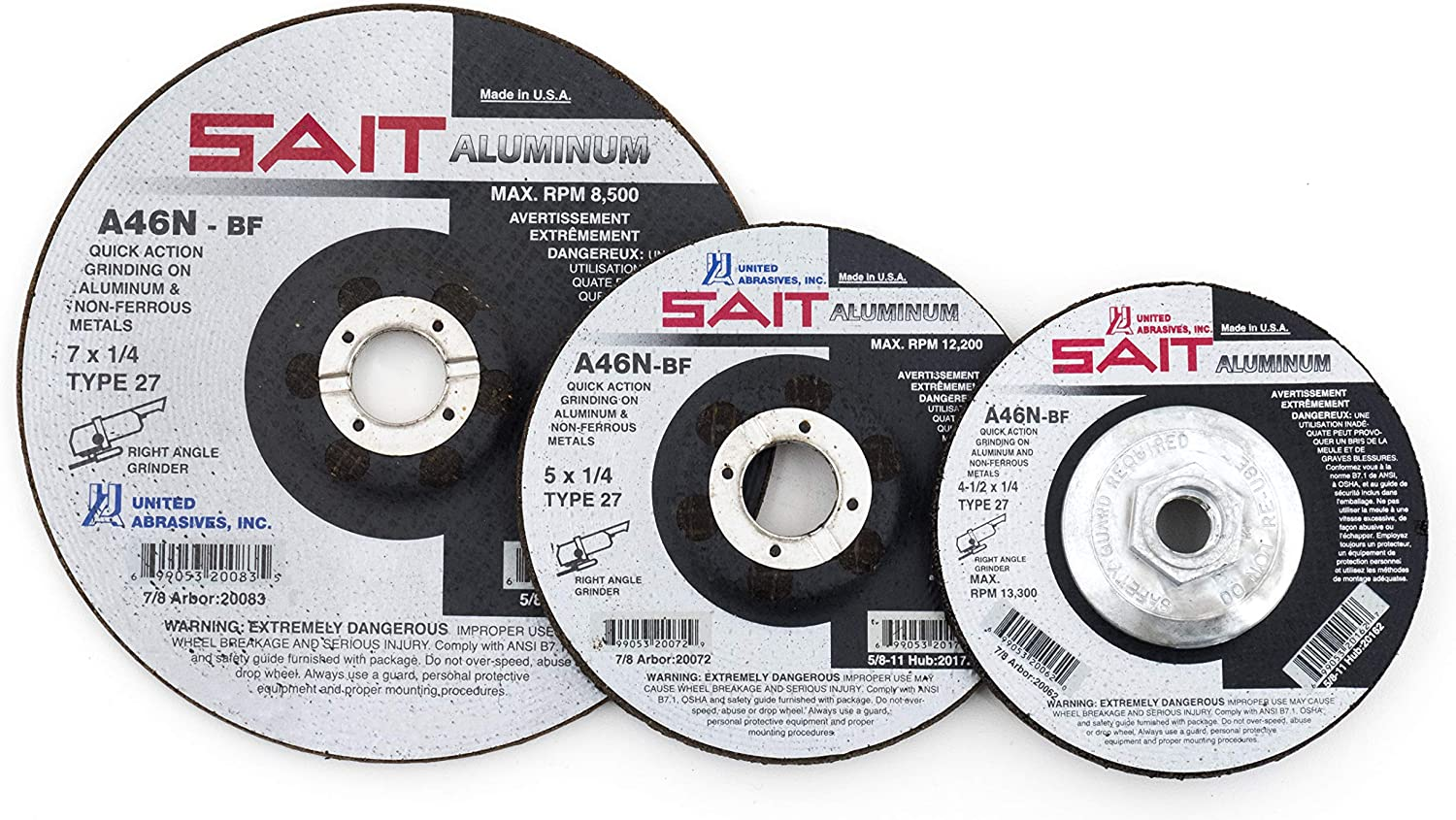 United Abrasives-SAIT 50334 Heavy Duty SAIT-Lok-R 2A 3-Inch 80 Laminated Disc 100 Pack