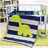 Amazon Com Dinomite 8 Piece Baby Crib Bedding Set By