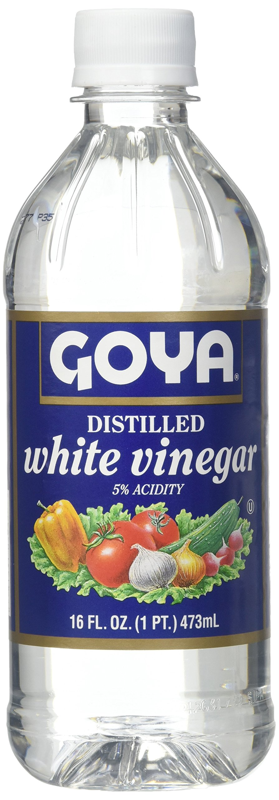 Goya WHITE VINEGAR, destilled - 8 x 16 fl. oz. by Goya