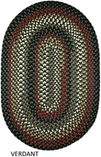 product image for Rhody Rug Jamestown Indoor/Outdoor Braided Rug Verdant 5' x 8' Oval Reversible 5' x 8' Indoor Oval