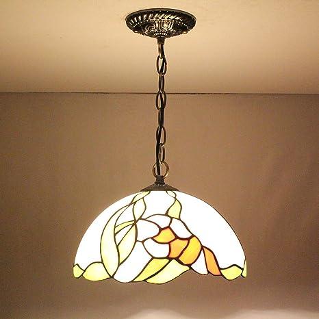 12-Inch Vintage Pastoral rústico Stained lámpara de colgante ...