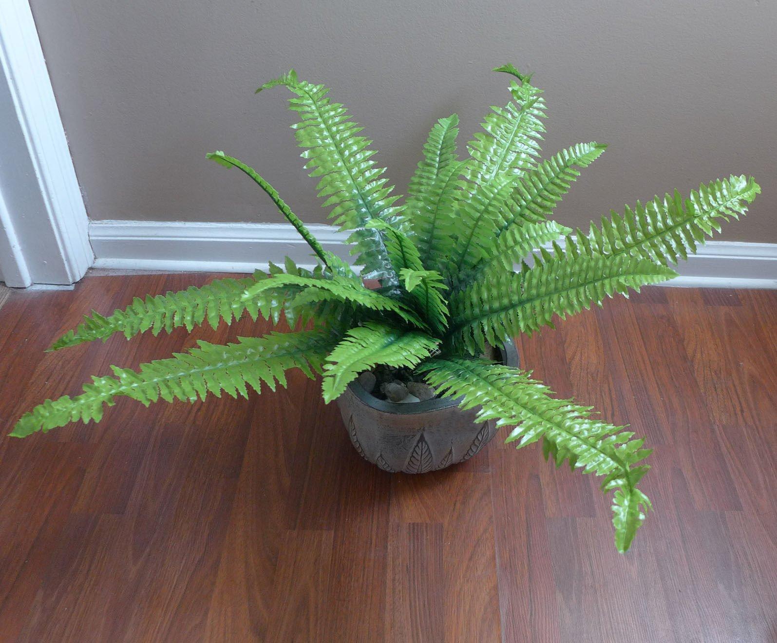 24-Boston-Bushes-Artificial-Plants-Fern-Leaf-Home-Wedding-Decoration-Decorative-Flowers-Artificial-Arrangement