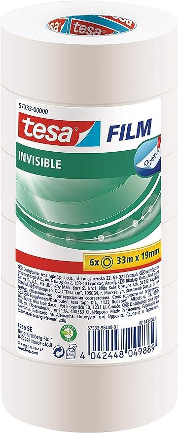 tesafilm/® Invisible 33m x 19mm en Torre con 6 rollos